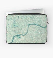 London Map Blue Vintage Laptop Sleeve