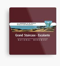 Grand Staircase-Escalante National Monument Sign, Utah Metal Print