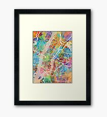 New York City Street Map Framed Print