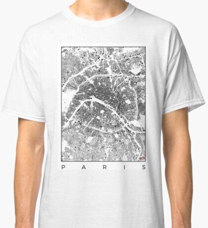 Paris Map Schwarzplan Only Buildings Urban Plan Classic T-Shirt