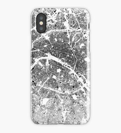 Paris Map Schwarzplan Only Buildings Urban Plan iPhone Case