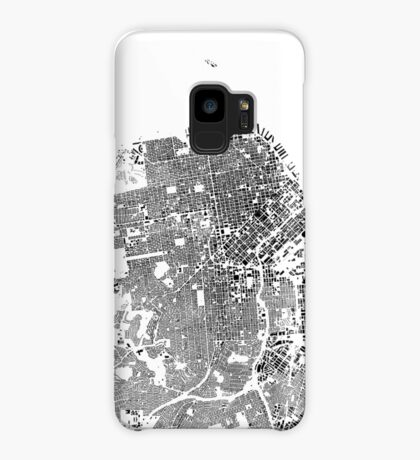 San Francisco Map Schwarzplan Only Buildings Urban Plan Case/Skin for Samsung Galaxy