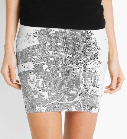 San Francisco Map Schwarzplan Only Buildings Urban Plan Mini Skirt