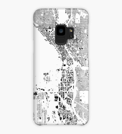 Seattle Map Schwarzplan Only Buildings Urban Plan Case/Skin for Samsung Galaxy