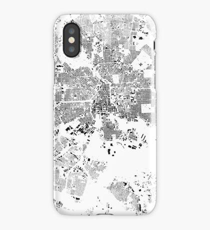 Baltimore Map Schwarzplan Only Buildings Urban Plan iPhone Case