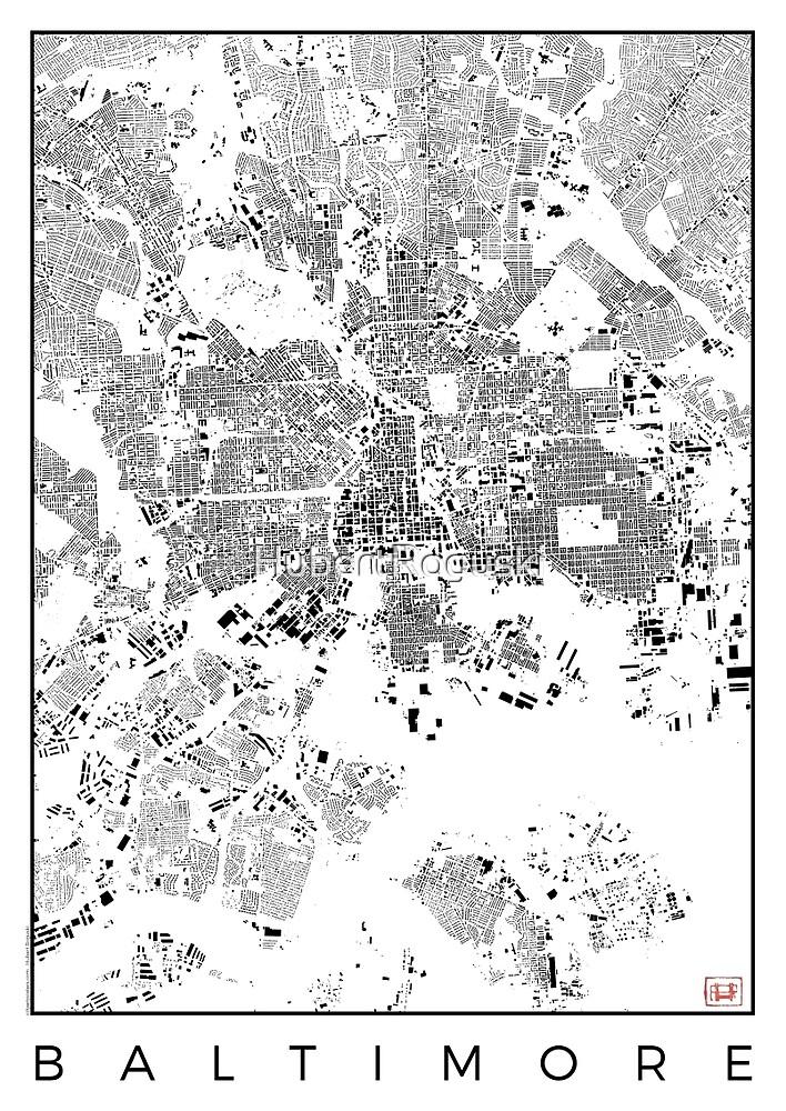 Baltimore Map Schwarzplan Only Buildings Urban Plan by HubertRoguski