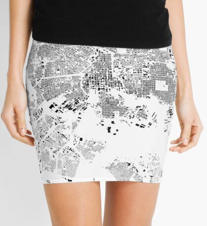 Baltimore Map Schwarzplan Only Buildings Urban Plan Mini Skirt