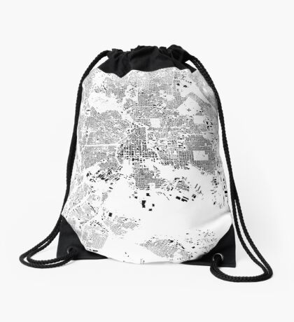 Baltimore Map Schwarzplan Only Buildings Urban Plan Drawstring Bag