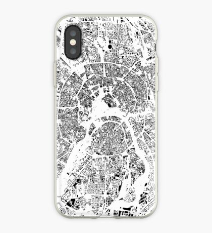 Moscow Map Schwarzplan Only Buildings Urban Plan iPhone Case