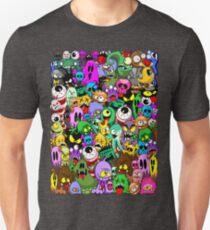 Monsters Doodles Characters Saga Unisex T-Shirt