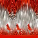 Three Redbirds by little1sandra