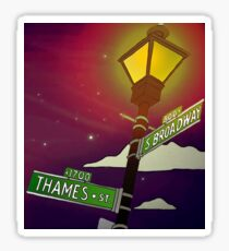 South Broadway and Thames Street Sticker