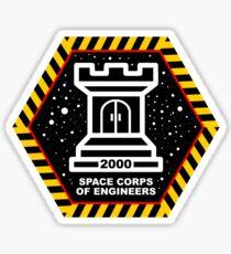 Space Cops of Engineers Sticker