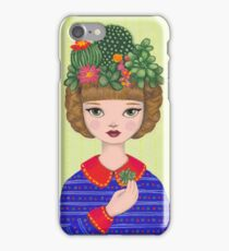 Cacti - girl with a Cacti garden iPhone Case/Skin