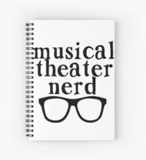 Cuaderno de espiral Nerd de teatro musical