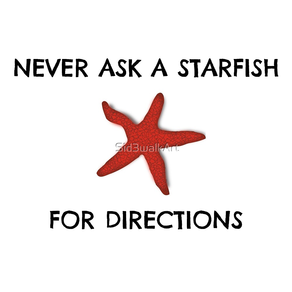 "Funny Random Quotes Starfish Funny Random Animal Joke""sid3Walkart  Redbubble"