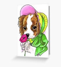 Victorian King Charles Spaniel Greeting Card