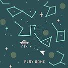 asteroids 8 bits by Paola Vecchi