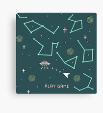 asteroids 8 bits Canvas Print