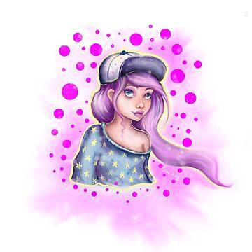 Skater Girl - Polkadot Pink by sarahmwall
