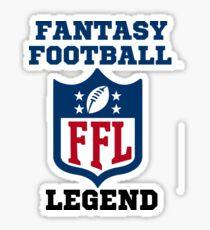 Fantasy Football Legend funny  Sticker