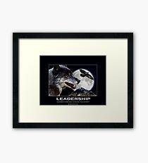 Leadership Grey Wolf and Raven Artwork Framed Print