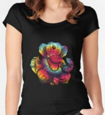 Tie-Dye Ganesha Fitted Scoop T-Shirt