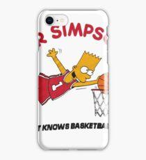 AIR SIMPSON-BART KNOWS BASKETBALL iPhone Case/Skin