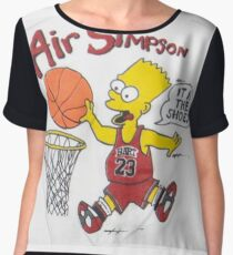 AIR SIMPSON-IT'S IN THE SHOES Chiffon Top
