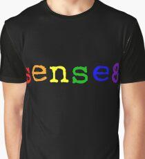Rainbow Sense8 Logo Graphic T-Shirt