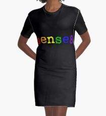 Rainbow Sense8 Logo Graphic T-Shirt Dress