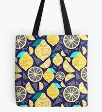 Helles Muster von Zitronen Tote Bag