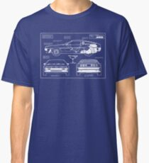 Back to the Future DeLorean blueprint Classic T-Shirt