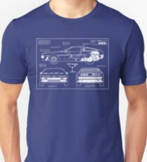 Back to the Future DeLorean blueprint T-Shirt