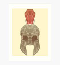 Geometric Trojan Helmet Art Print