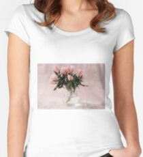 Godetia Bouquet Women's Fitted Scoop T-Shirt
