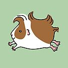 Leaping Guinea-pig ...Brown and White by Zoe Lathey