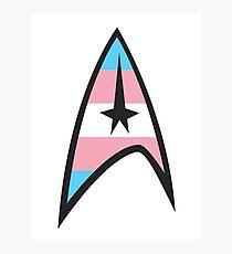 Trans Star Trek Emblem Photographic Print