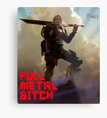 Edge of Tomorrow - Full Metal B Metal Print