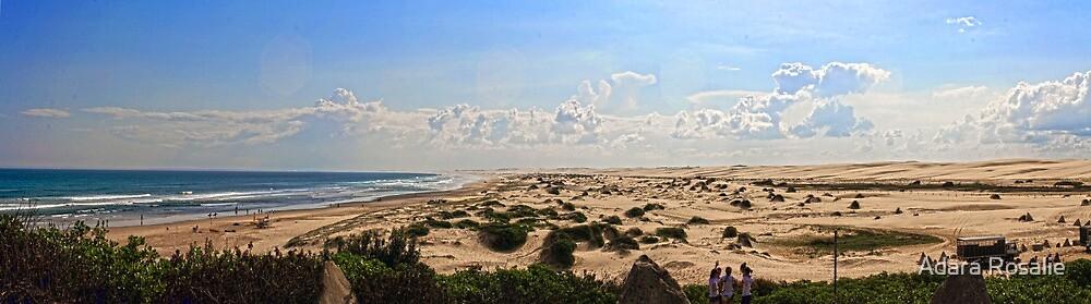 Anna Bay - Beach and Dunes Panorama by Adara Rosalie