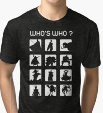 Who's who ? (bad guys edition) Tri-blend T-Shirt