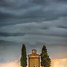 Madonna di Vitaleta Chapel storm by Vicki Moritz