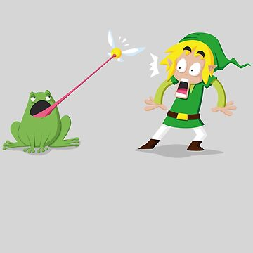 Link and a frog by Alondyte