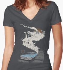 Fossils Refueled Women's Fitted V-Neck T-Shirt