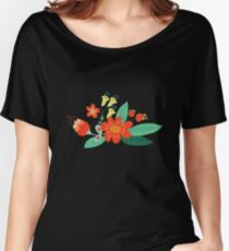 Flowers and hearts Women's Relaxed Fit T-Shirt