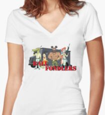 Ball Fondlers Women's Fitted V-Neck T-Shirt