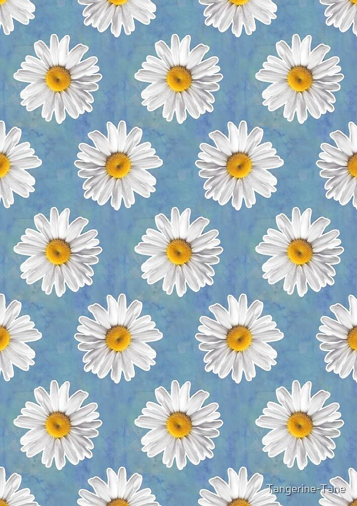 """""""Daisy Blues - Daisy Pattern on Cornflower Blue"""" by"""