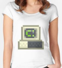 Pixel IBM PC Women's Fitted Scoop T-Shirt