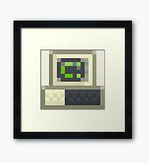 Pixel IBM PC Framed Print