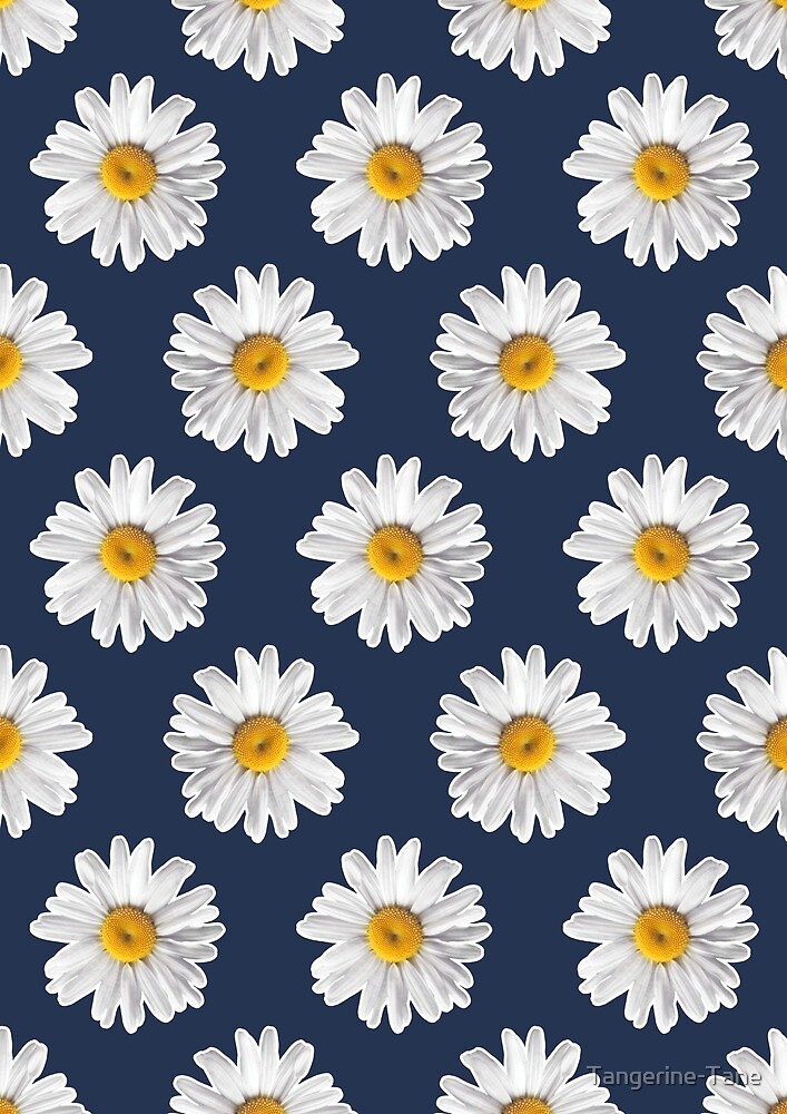 Daisy Blues #2 - Daisy Pattern on Navyu0026quot; by Tangerine-Tane : Redbubble